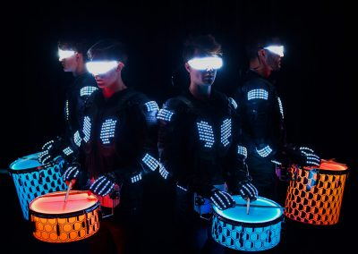 The Drumbots LED Percussion Crew
